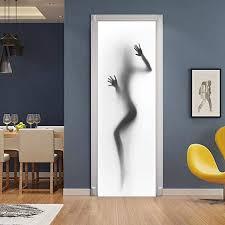 henypt door sticker 3d glastür aufkleber kreative