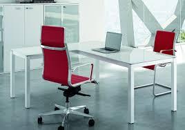 bureau en verre blanc bureau verre blanc laqué mobilier de direction professionnel