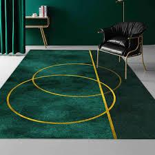 moderne luxus gold kreis dunkelgrün teppich für moderne