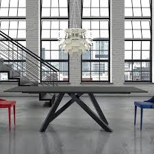 esstisch ausziehbar bis 300 cm aus glas made in italy settimmio