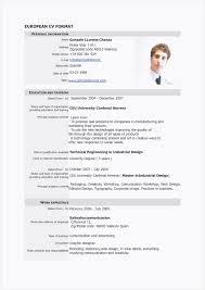 Resume In Table Format Lovely Cv En Pdf