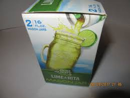 Bud Light Mason Jars Set Lime a Rita & Straw ber rita 16 FL Oz