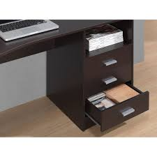 Sauder Shoal Creek Desk Instructions by Techni Mobili Classic Computer Desk With Multiple Drawers Wenge