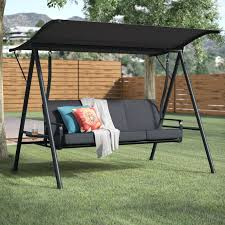 Nadkar 3 Seat Cushion Porch Swing with Stand & Reviews