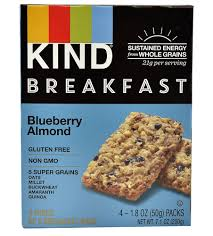 Kind Breakfast Bars Blueberry Almond 4 Packs Of 2