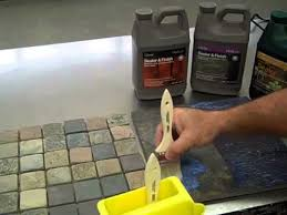 Dupont Tile Sealer High Gloss by How To Enhance Stone With Tilelab Sealer Youtube