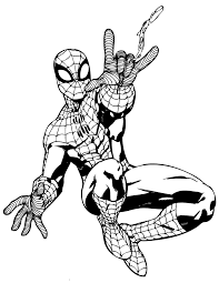 Spider Man Superhero For Kids Coloring Page