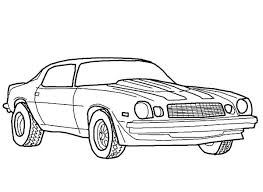 Coloring Gorgeous Muscle Cars Pages 13 Car Sheets