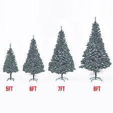 5 6 7 8FT PVC Snow Flocked Artificial Christmas Pine Tree W