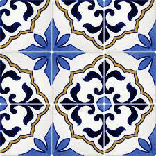 mexican talavera proof tile flores terra artesana