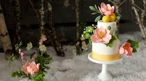 Vegan And Gluten Free Fondant Wedding Cake With Tulip Sugar Flowers