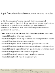 Top 8 Front Desk Dental Receptionist Resume Samples Downloadfront Office Receptionist Resume Samples Velvet Jobs Dental Sample Summary For Medical Skills Duties 20 Tips Front Desk Job Description Examples Best Monstercom Salon Manager Template Resume Vector Icons Hotel Writing Guide 12 Templates 20 Cover Letter Receptionist Cover Skills At