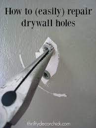 Popcorn Ceiling Patch Home Depot by How To Easily Patch Holes In Drywall From Thrifty Decor