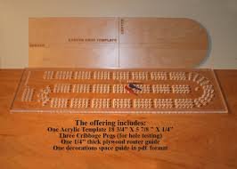 Acrylic Cribbage Board Drilling Template 1 4 Inch Thick Clear