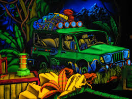 Blacklight Mini Golf Blacklight Artwork and 3D attraction designers