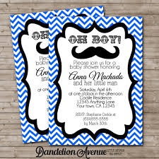 Cars Baby Boy Shower Invitation