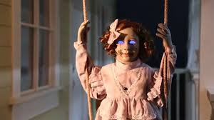 Halloween Club La Mirada Ca by Swinging Decrepit Dessie Doll Animated Prop Now Available At