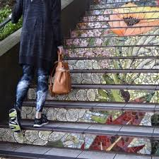 16th Avenue Tiled Steps In San Francisco by 16th Avenue Tiled Steps San Francisco Ca California Beaches