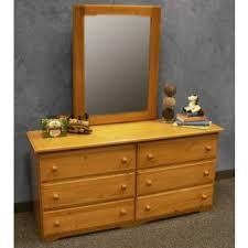 6 drawer dresser honey without mirror