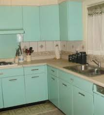 Bloombety 1960s Kitchen Cabinets With Blue Vintage Style