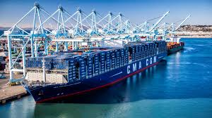 100 Shipping Containers San Francisco Largest Ship In The World Docks At Port Of Los Angeles