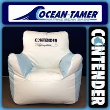 Ocean Tamer Armchair Marine Bean Bag With A Custom Contender Boats Logo And The Customers