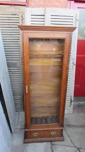 Wooden Gun Cabinet With Etched Glass by Oak Gun Cabinet Desk And Cabinet Decoration