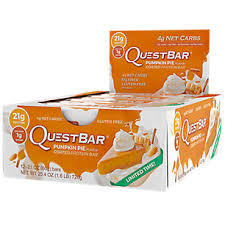 Pumpkin Pie Flavored Condoms by Quest Bar Pumpkin Pie 12 Bars By Quest Nutrition At The