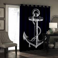 einfache anker blau bottom vorhang lichter wohnzimmer im freien stoff decor kinder fenster behandlung ideen vorhänge und vorhänge