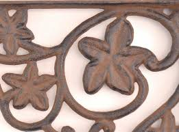 cast iron shelf brackets wall shelf brackets leaf pattern