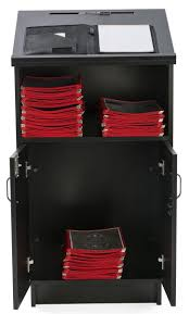 Valet Custom Cabinets Campbell by Hostess Station With Locking Storage Cabinet 1 Shelf Reading