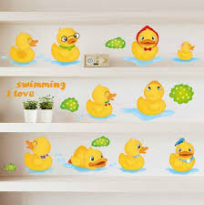 Decals For Bathrooms by Yellow Duck Kids Wall Decals For Bathroom Wall Stickers Removable