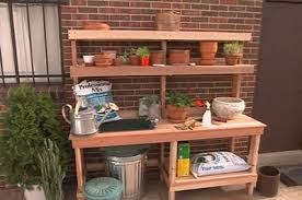 Shed Bench by 65 Diy Potting Bench Plans Completely Free