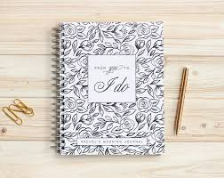 Wedding Journal Personalized Planner Book Binder Notebook Guide Engagement Lay Flat