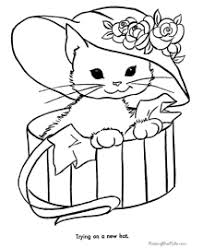 Homey Ideas Coloring Page Of A Cat Pages