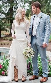 Satin Lace Button Zipper Wedding Dress
