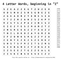 5 Letter Word Ending In E Four Letter Words That Start With Z