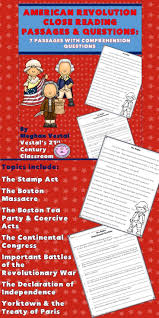 American Revolution Close Reading Passages Questions Is A Great Way To Integrate Concepts