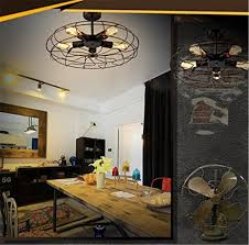 High Ceiling Light Bulb Changer Amazon by Ceiling Light Mklot Industrial Fan Style Wrought Iron Semi Flush