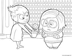 Joy And Sadness Inside Out Coloring Pages