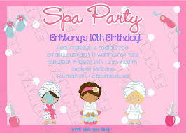 Spa Party Invitation Makeup Glamour Party Any Color Birthday Party
