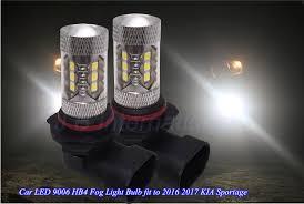 2pcs car led light bulbs for kia sportage 2016 2017 white hb4