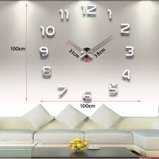 Horloge Mural 3d Achat Vente Pas Cher Stickers Horloge Géante Fashion Designs