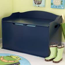 shop kidkraft austin blueberry rectangular toy box at lowes com