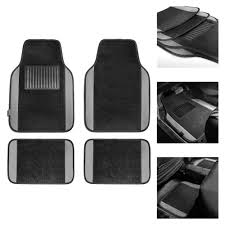 BESTFH: 4pc Universal Carpet Floor Mats For Car Truck SUV Gray W ...