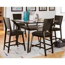 Value City Furniture Kitchen Table Chairs by Mystic Counter Height Table And 4 Chairs Merlot And Chocolate