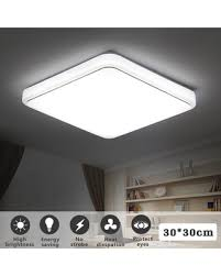 Modern LED Ceiling Light 24W 1000LM Square Flush Mount Down Fixture Lamp For