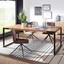 moderner esszimmer tisch mit holzplatte racer
