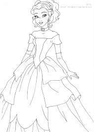 Belle Deluxe Gown Lineart By LadyAmber On DeviantArt Disney Coloring