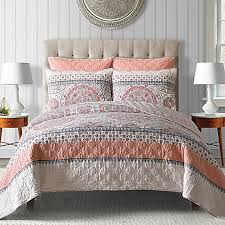 Lampe Berger Oil Bed Bath And Beyond by Toren Cotton Reversible Quilt In Coral Bed Bath U0026 Beyond